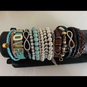 Set of Assorted Trendy Bracelets -Aldo & Hollister